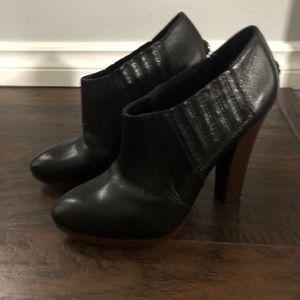 BCBG MaxAxria black leather booties sz 7.5
